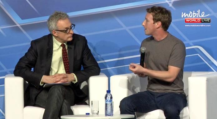 Facebook CEO Mark Zuckerberg as a keynote speaker at MWC