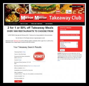 Daily Mirror Takeaway Club